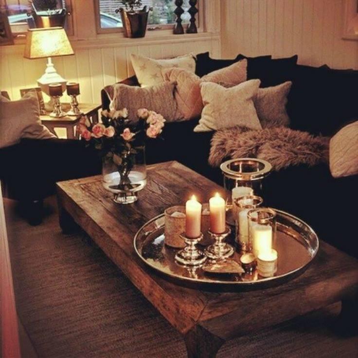 ديكورات رائعة لطاولات غرفة المعيشة