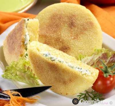 حرشة بالجبن والأعشاب المنسمة