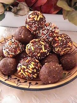 طريقة تحضير كرات الشوكولاتة بالوز