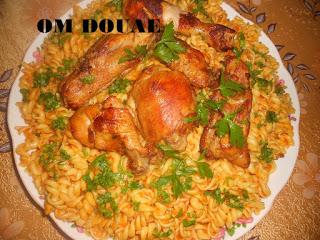 طبق لفيس مزين بطريفات الدجاج المقلي
