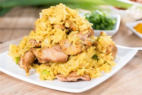 أرز بالكاري والدجاج