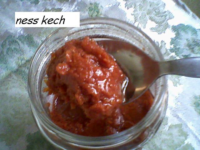 طريقة تحضير مطيشة الحك او الطماطم المصبرة
