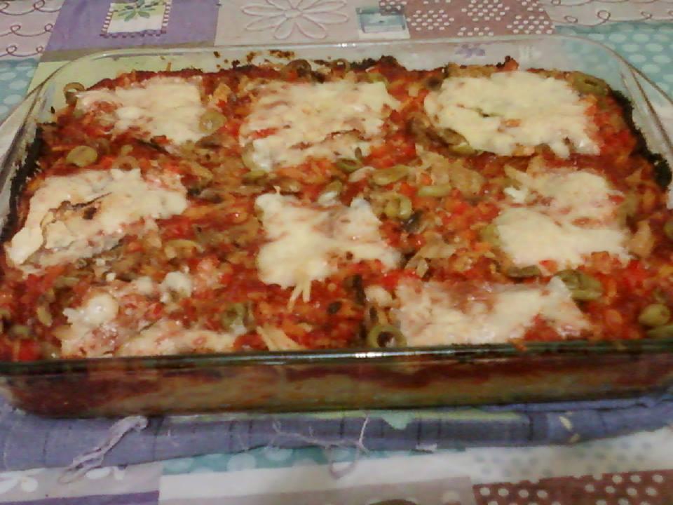 سباكيتي بمداق البيتزا