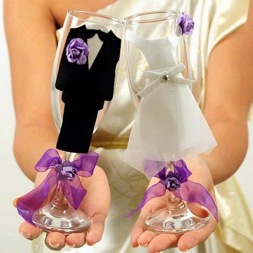 أفكار جديدة لتزيين كاسات العروسين