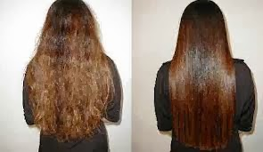 وصفة سهلة جدا لترطيب الشعر التالف