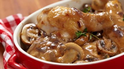 دجاج بصلصة الصويا